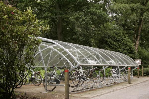 Fietsenstalling Hotel Landgoed Zonheuvel op de Utrechtse Heuvelrug